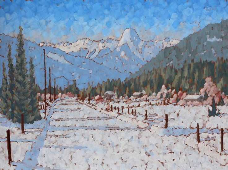 Peter Corbett (1961-) - Along the Back Road, Slocan Valley