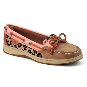 Sperry Women's Angelfish Shoes Linen/Peach Pink/Leopard  $84.99