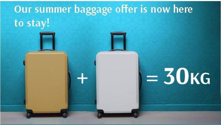 More luggage space=more shopping! Oman Air have increased their luggage allowance to 30kg! http://www.brightsun.co.uk/airlines/oman-air