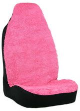 Shaggy Pink Auto Front Seat Cover Girly Car Accessory