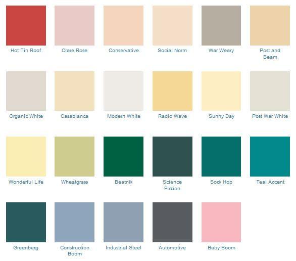 13 best images about mid century paint colors on pinterest for Modern exterior colours