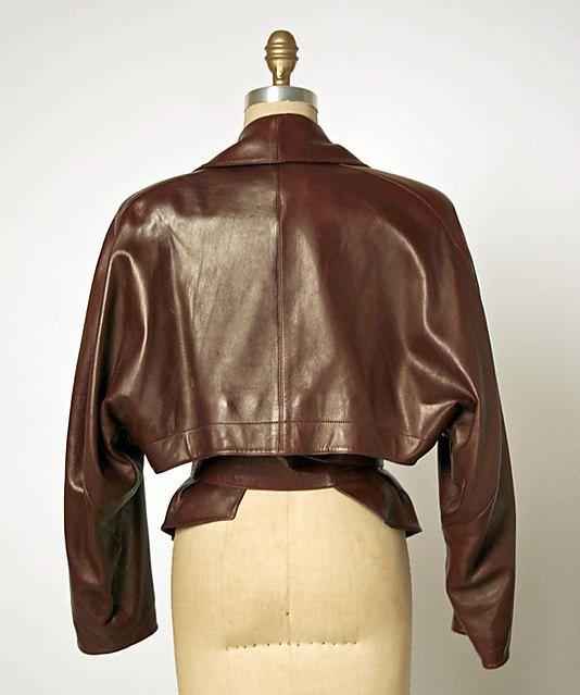 Azzedine Alaia   Leather Jacket  Back  1984