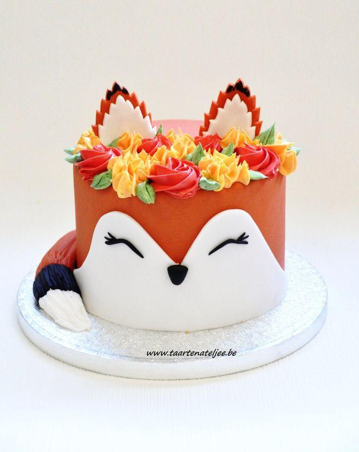 Cute Fox Cake Kiddie Cake Ideas In 2019 Fox Cake