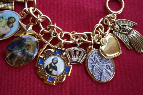 Religious Saint Medal Charm Bracelet 0805a St Michael & MORE