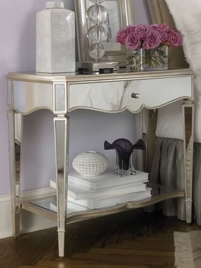 21 Best Images About Master Bedroom Ideas On Pinterest Mirrored Nightstand Blue Gold And