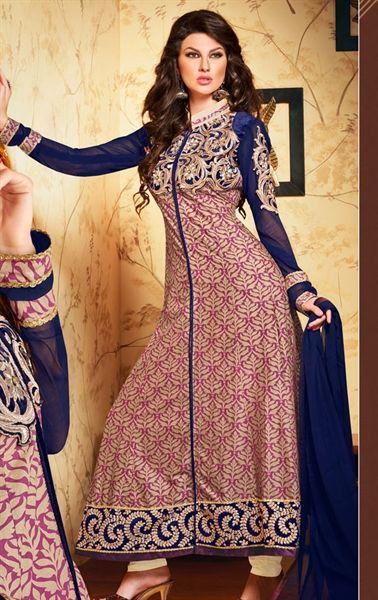Picture of Ideal Navy Blue Designer Salwar Kameez Online Shopping