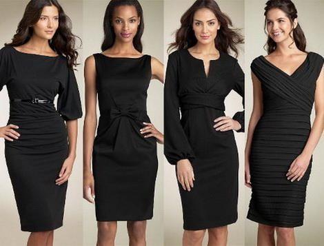 Черное платье для невысоких девушек