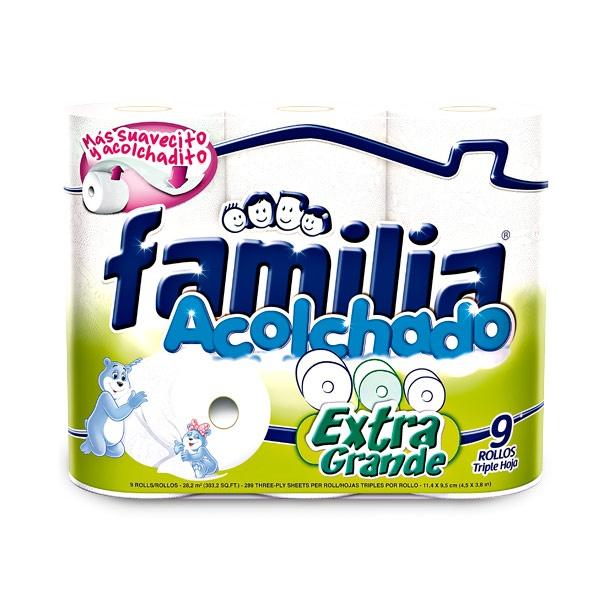 Papel higiénico Familia Extra grande, triple hoja x 9 Und