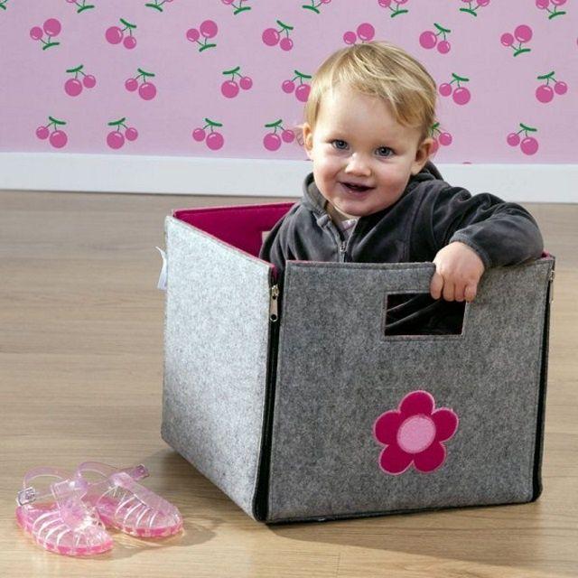 Filcowe składane pudełko, np. na zabawki / Childhome blubalon.pl