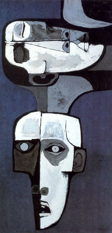 Oswaldo Guayasamin: Mural de la Miseria no 2 (1969) Acrilico y madera.  Colección Fundación Guayasamín. Quito. Ecuador