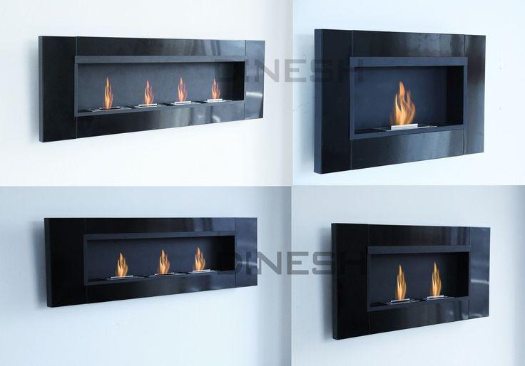 Details zu DI-NESH® 4versch Luxus Schwarz Bio Ethanol Kamin - wohnzimmer kamin ethanol