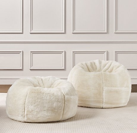 Restoration Hardware Beanbags Fur Bean BagBean