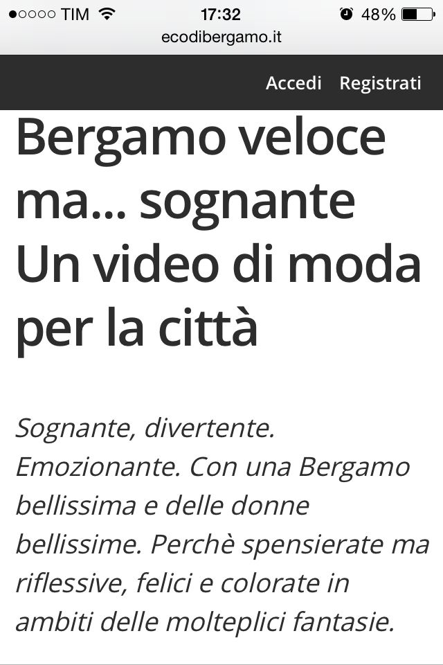 http://www.ecodibergamo.it/stories/Moda%20e%20Tendenze/bergamo-veloce-ma-sognanteun-video-di-moda-per-la-citta_1114944_11/ L'articolo dedicato a MAGENTA su L'Eco di Bergamo!