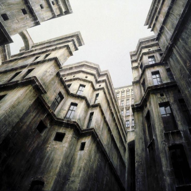 Мрачные картины несуществующего города Штефана Онерло https://www.facebook.com/FAQinDecor/posts/391256721062503 #FAQinDecor #design #decor #architecture #interior #art #дизайн #декор #архитектура #интерьер