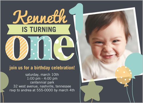 107 best Baby Boys 1st Birthday Invitations images on Pinterest