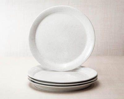 Classic Dinner Plate Bennington Potters, VT White on white