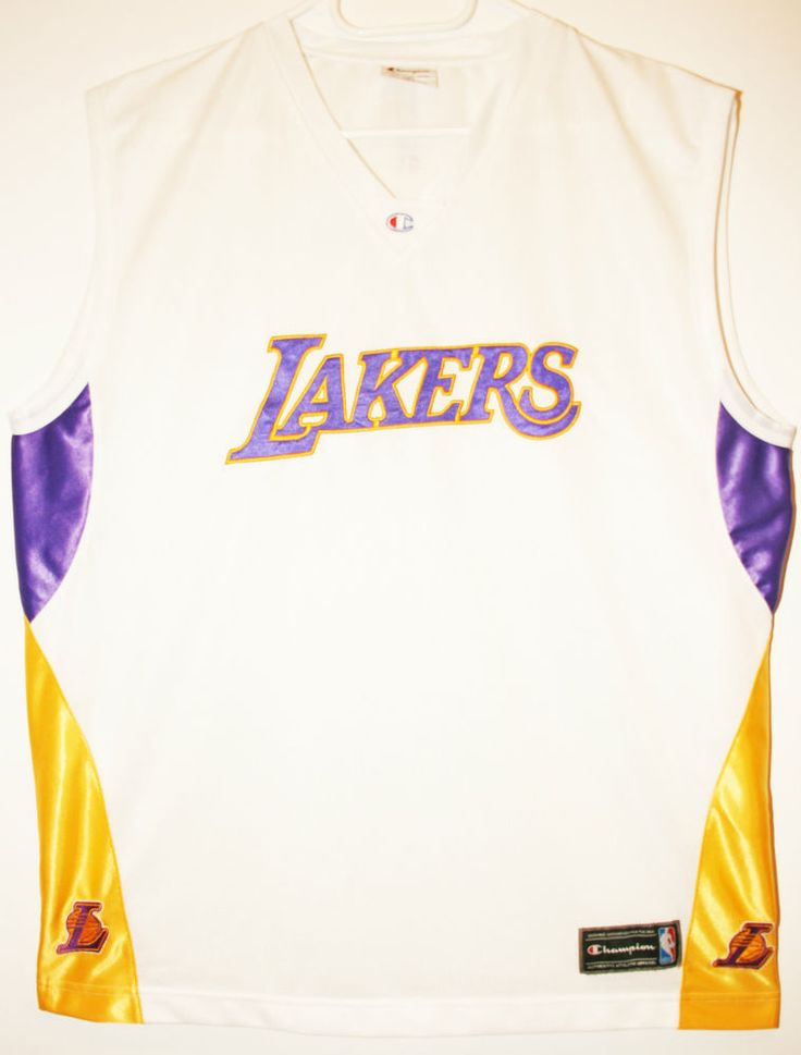 Champion NBA Basketball Los Angeles Lakers Teamshirt/Tanktop Trikot/Jersey Size 44 - Größe L - 69,90€ #nba #basketball #trikot #jersey #ebay #sport #fitness #fanartikel #merchandise #usa #america #fashion #mode #collectable #memorabilia #allbigeverything