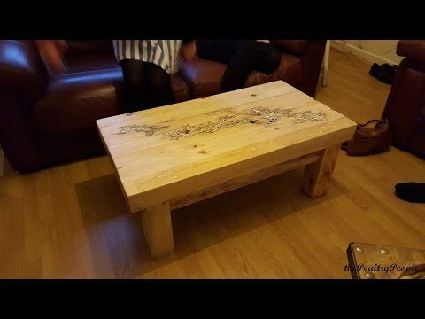 How to make a Coffee Table with Pallets - DIY Furniture Project - Lichtenberg Figure - YouTube