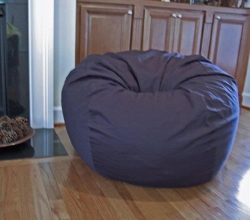 Navy Blue ORGANIC Cotton Washable Large Bean Bag Chair