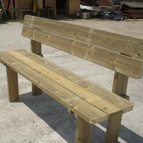 Banco de madera mod rustic pinteres - Bancos de jardin de madera ...