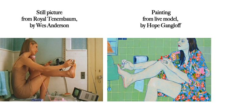 Feels Familiar? Margot Tenembaum by Wes Anderson / Painting by Hope Gangloff