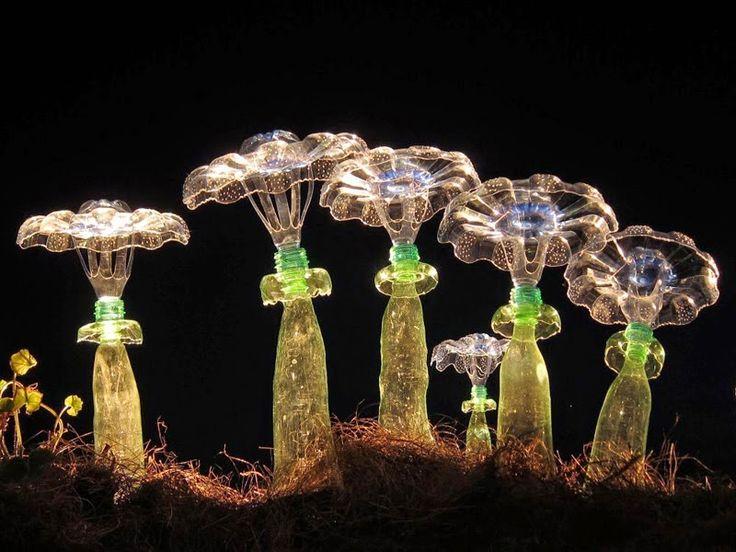 Φανταστική τέχνη και διακόσμηση από πλαστικά μπουκάλια