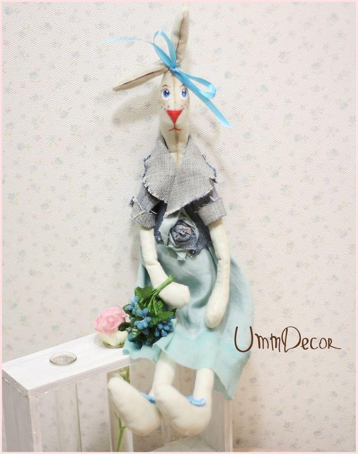Decorative rabbit Tilda Декоративная игрушка UmmDecor