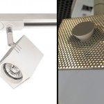 GRFO0010 blanco - L6 x F6 x h8 cm - Foco para riel - Halógeno - metal - GU10 50W