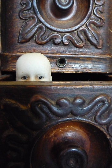 creepy little doll head > this is my revenge for Carrie !!! :p @sugarpie project & @Nick Goodey