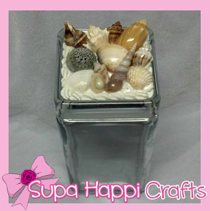 Kawaii Decoden Seashell Jar! #cute #seashell #ocean