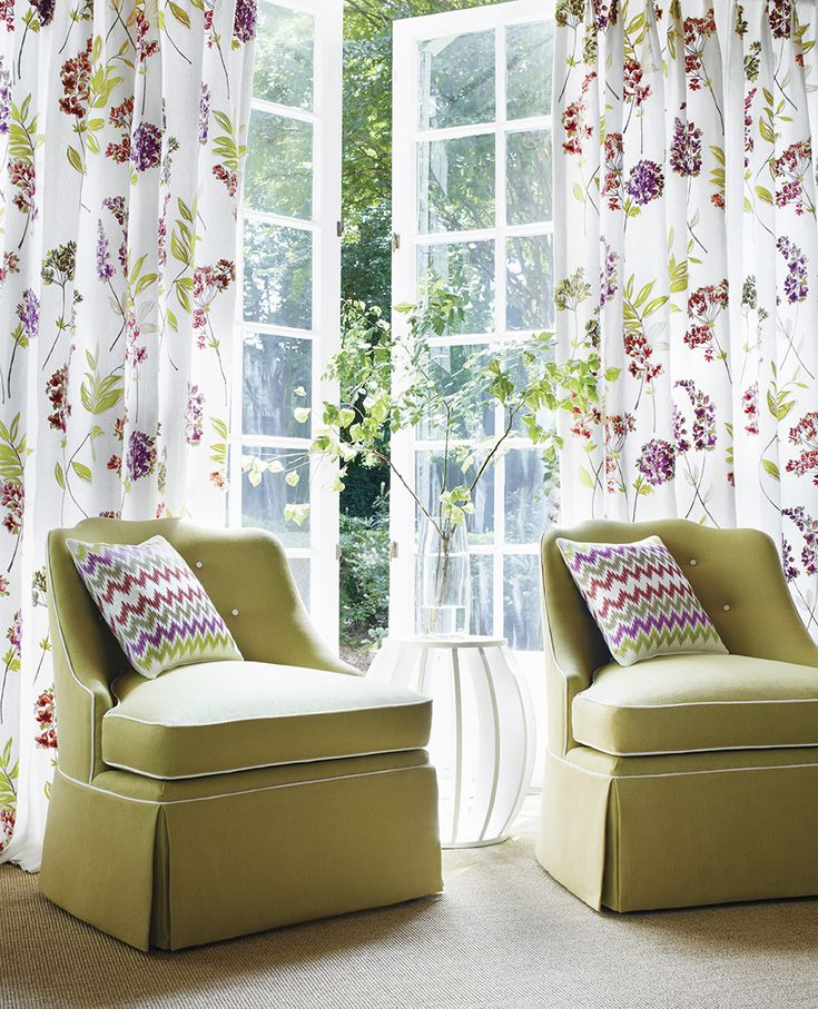 Beautiful ... French   Featured Product: Twiggy Floral Embroidery Woven Fabric Brights  On White, Zippidy Embroidery Woven Fabric In Brights On White, Brentwood  Chairs ...
