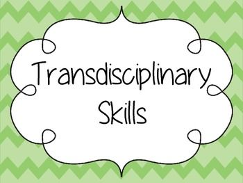 Transdisciplinary Skills PostersSet of Five (thinking, self management…