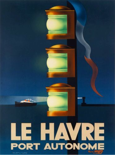 Vintage Travel Poster - Le-Havre - Port-Autonome -Normandie - France.