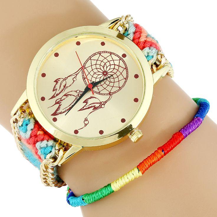 Новый хиппи индеец Atrapasueno кружева женщин часы мексиканская мода женщина наручные часы браслет ткань часы #jewelry, #women, #men, #hats, #watches, #belts
