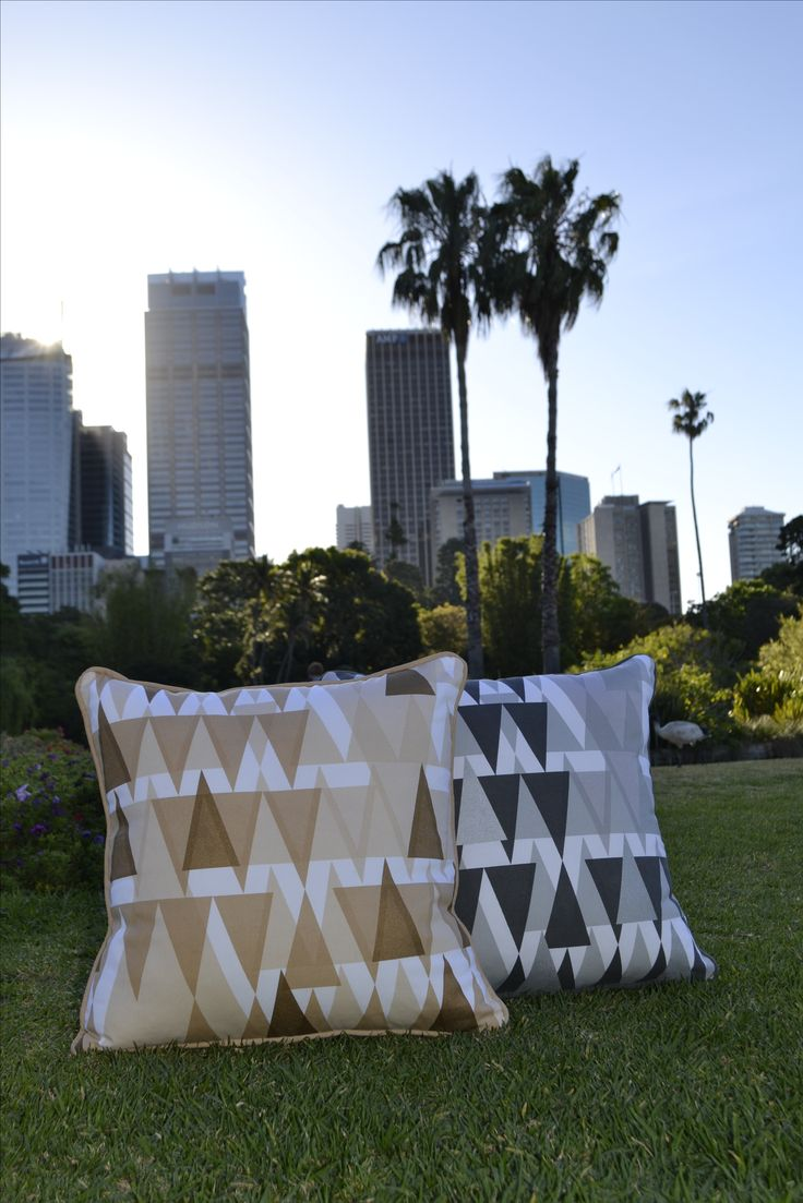 We love these beautiful cushions! With a soft metallic sheen, and a simple geometric pattern, they will add a touch of class to your home. Available at www.dalaur-creative.com