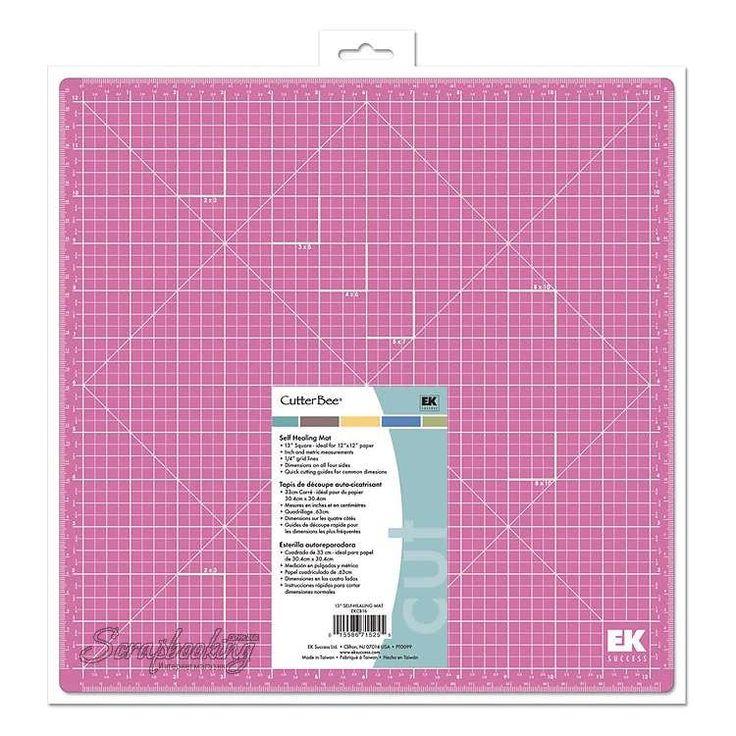Резиновый коврик EK Success - самовостанавливающийся, размер 32.5х32.5 см, разметка в сантиметрах и дюймах, идеален для работы с бумагой 30х30 см