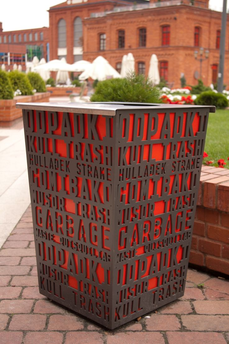 Multilingual public garbage bin. Click image for source and visit the Slow Ottawa 'Street Furniture' board for more beautiful urbanism.