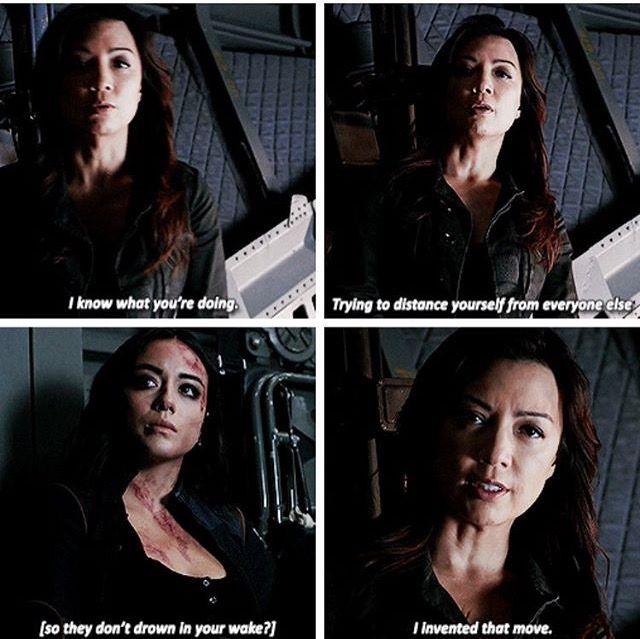 Momma May verbally beating some sense into Daisy. Agents of Shield