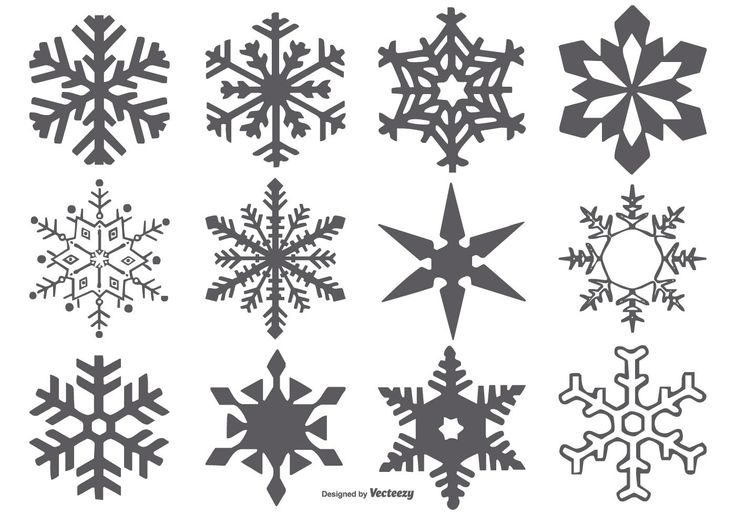 Here is a very useful set of vector snowflake shapes that you are sure to find many great uses for. Enjoy!