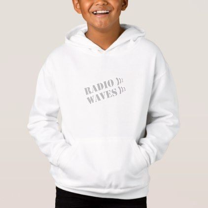 RADIO WAVES WHITE PULLOVER HOODIE - boy gifts gift ideas diy unique