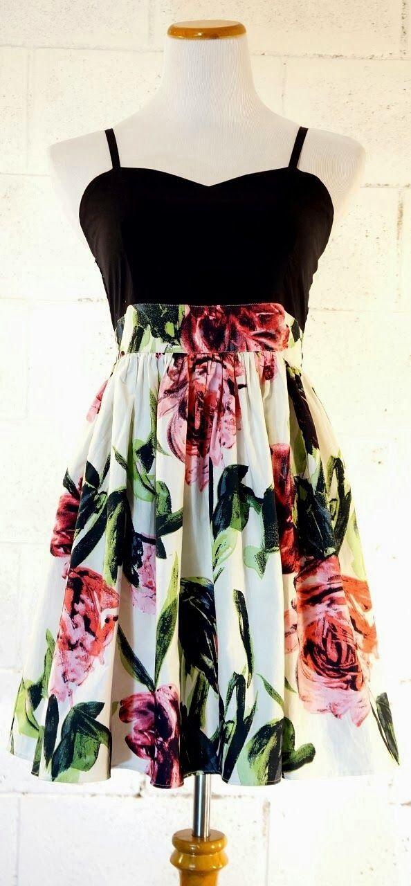 see more Beautiful Flower Patterned Mini Cute Dress, Love It