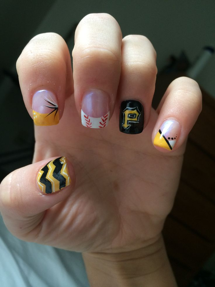 pirates baseball nails. #letsgobucs