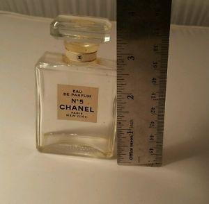 Vtg Glass Perfume Bottle Chanel No 5 Bottle Paris New York