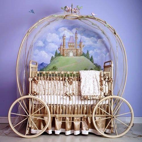 Cinderella carriage crib -- coolest room ever!!
