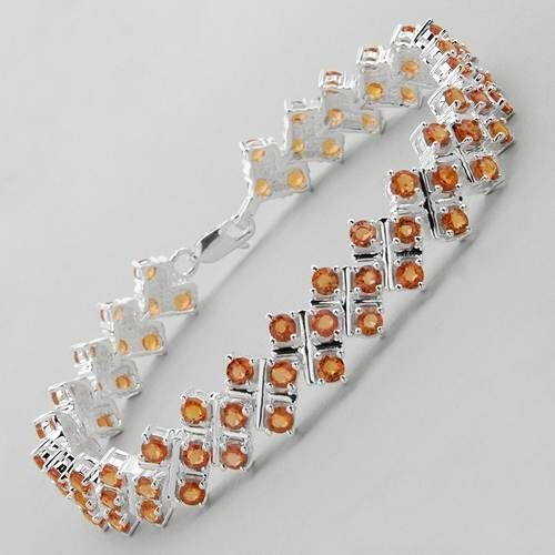 Bracelet With 10.92ctw Genuine Sapphires Beautifully Designed in 925 Sterling silver. Total item weight 23.8g Length 7.5in Unknown. $234.00. Save 87% Off!