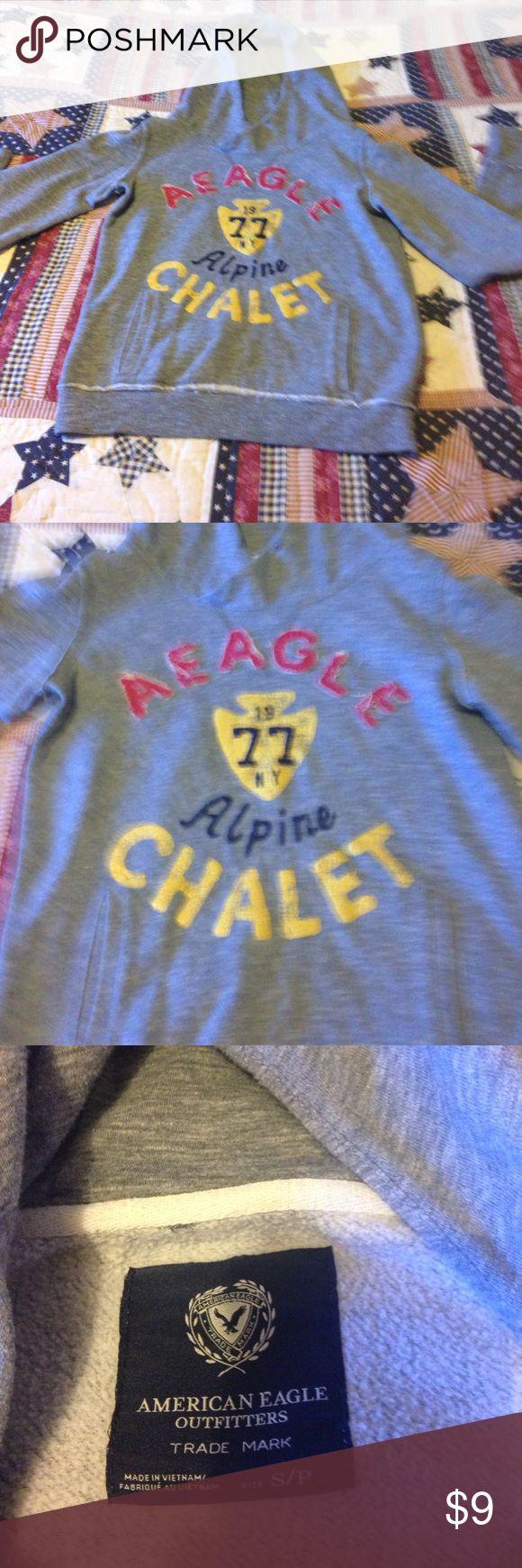 Size small American eagle sweatshirt Size small American eagle sweatshirt! Good used condition! Smoker American Eagle Outfitters Tops Sweatshirts & Hoodies