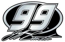 Jeff Burton Auto Emblem - Silver