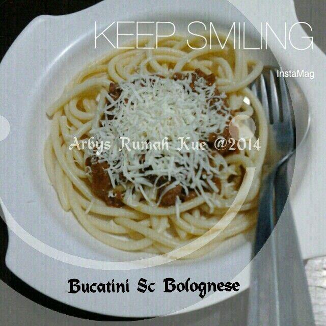 Bucatini saice bolognese
