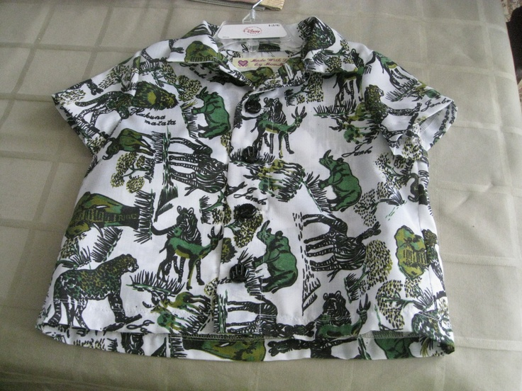 Shirt made for grandson with fabric bought in Nairobi