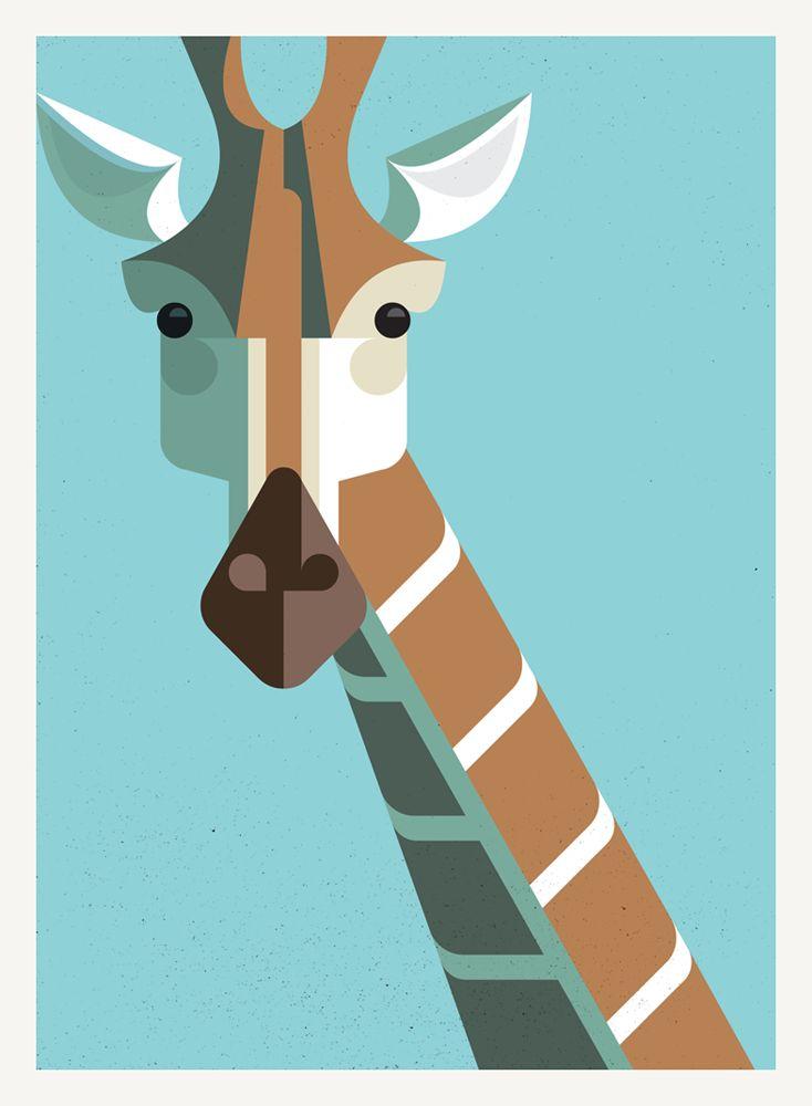 Giraffe Portrait by Josh Brill #Illustration #Giraffe #Josh_Brill